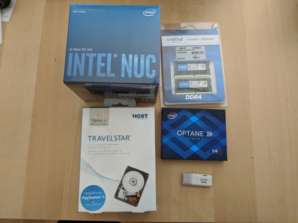 Experimenting with Intel Optane at home with the Intel NUC 7th